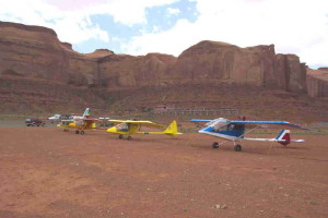 Flight line Monument Valley
